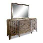 Breakfront Dresser/ Mirror Coronado Brown