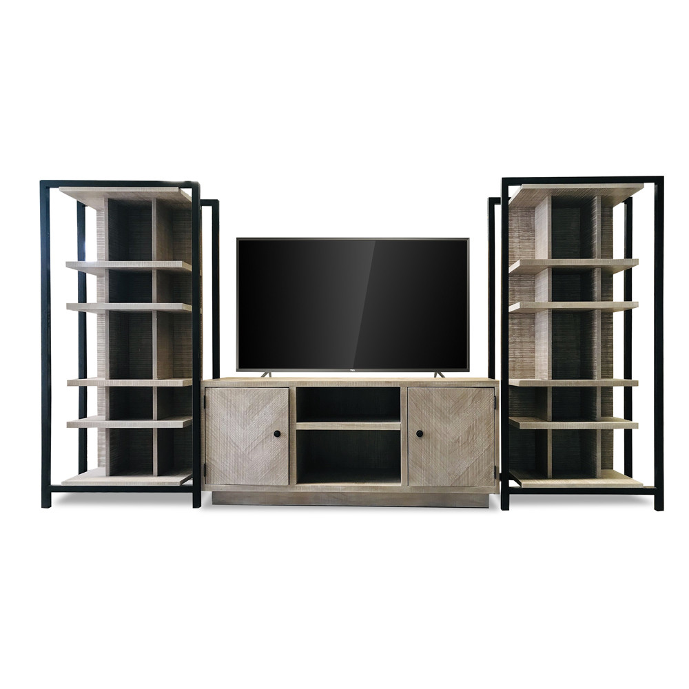 Entertainment Credenza / Grid Shelf Piers