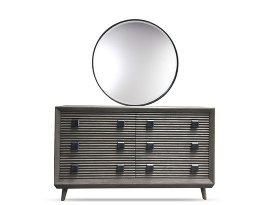 Marin Dresser Round Mirror Smoking Jacket