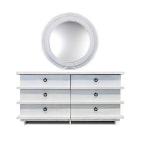 Linear Dresser / Round Mirror