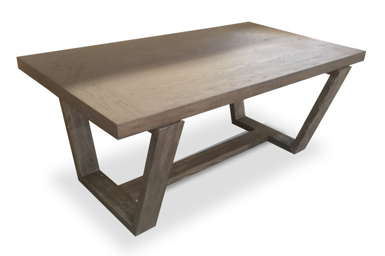 Trapezoid Leg Dining Table