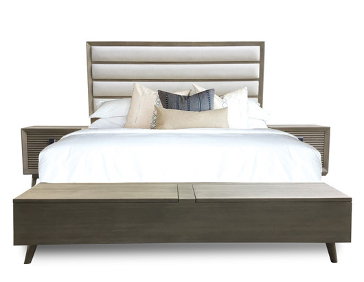 Marin UPH HB Storage Bench Bed Sandcast