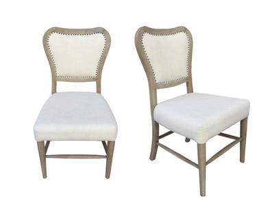 La Brea Uph Dining Chair Burlap