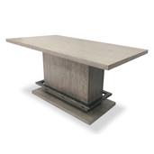 Pedestal Gathering Table Moonstone Gray