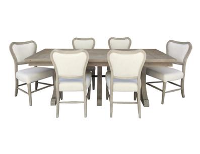 Uph La Brea Dining Table Group Burlap