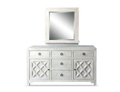 La Brea Dresser Mirror Washed Sand