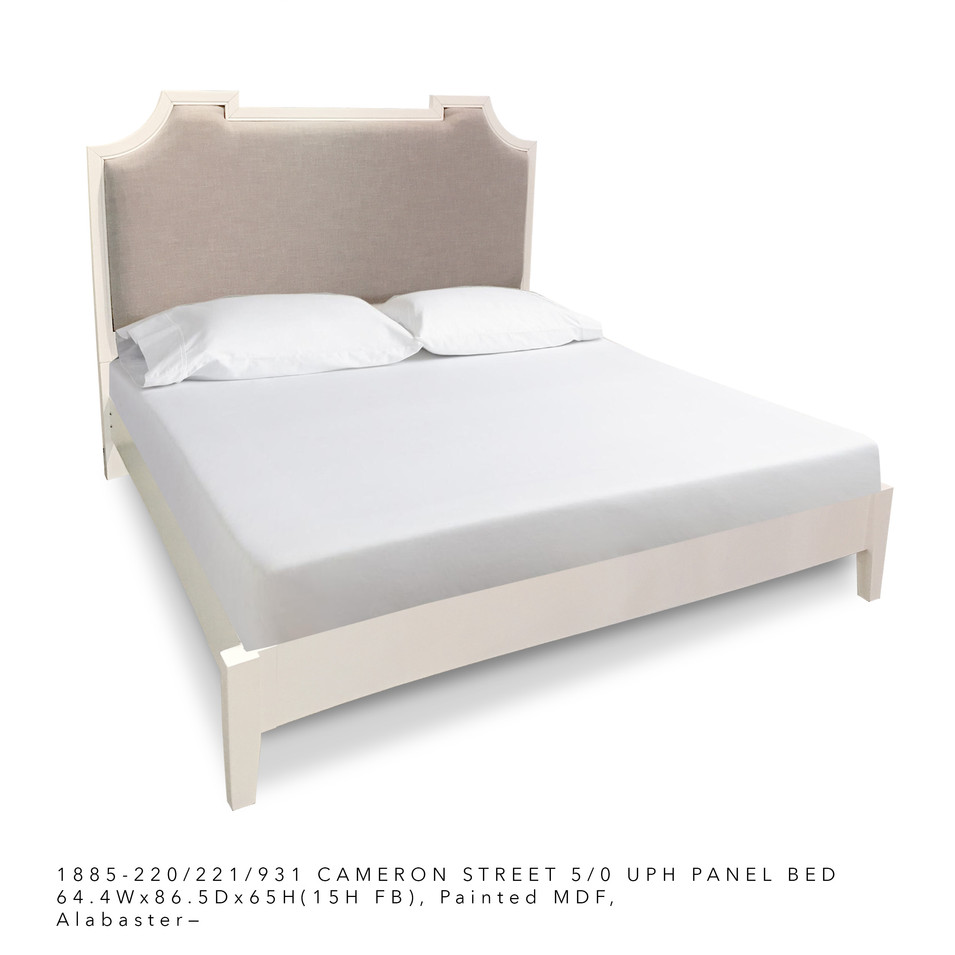 225 Upholstered Panel Bed