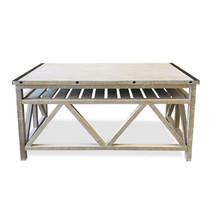 Herringbone Top Sofa Table