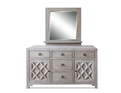 La Brea Dresser Mirror Burlap