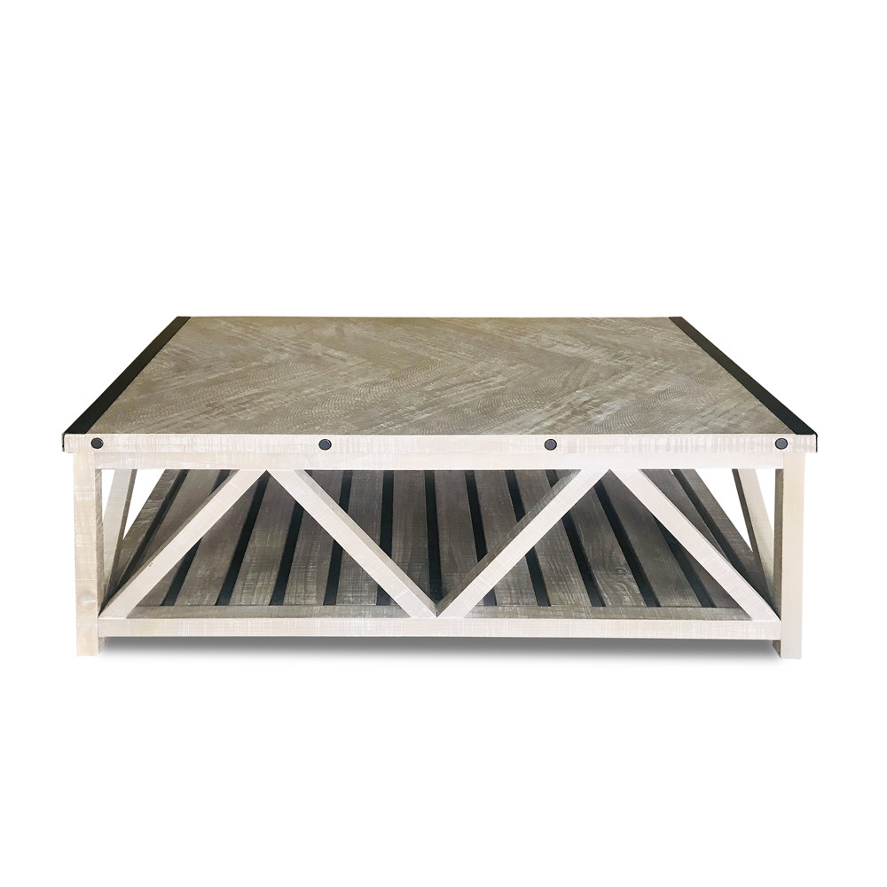 Herringbone Top Coffee Table