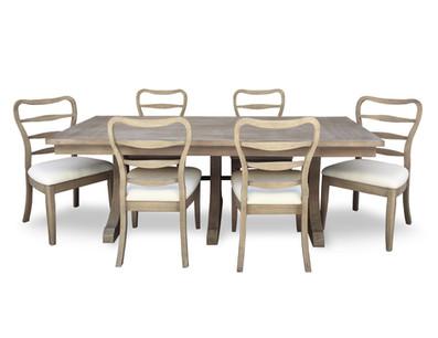 La Brea Dining Table Group Burlap