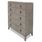 Fluted front Chest Moonstone Gray