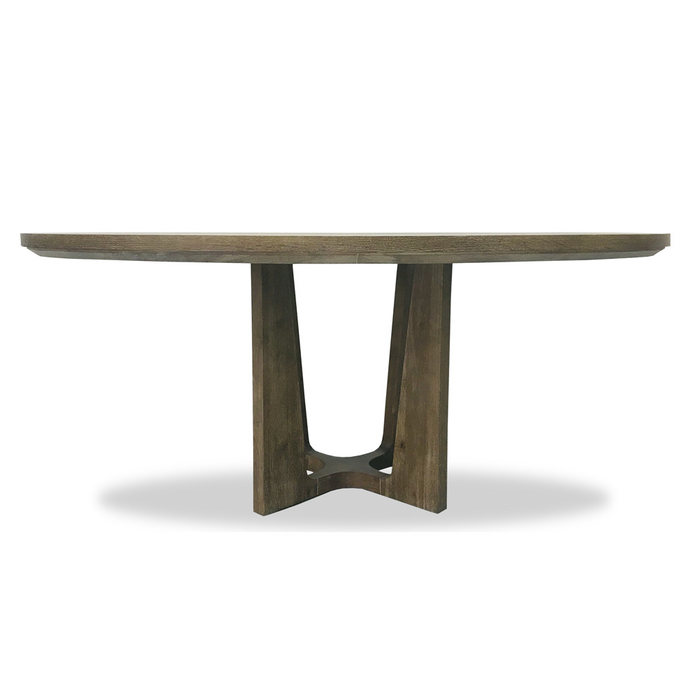 Single Pedestal Oval Dining Table Moonstone Gray