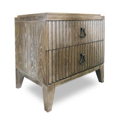 Fluted front Bedside Chest Coronado Brown
