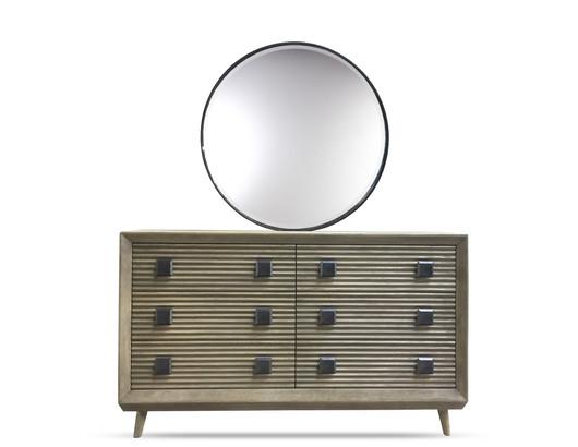 Marin Dresser Round Mirror Sandcast