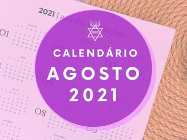 Calendário IEED-RJ Agosto de 2021