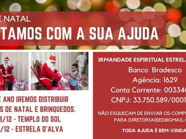 CAMPANHA DE ARRECADAÇÃO PARA DISTRIBUIÇÃO DE CESTAS DE NATAL E BRINQUEDOS.