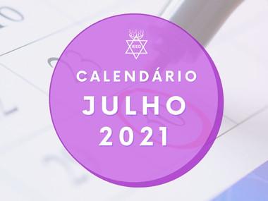 Calendário IEED-RJ Julho 2021