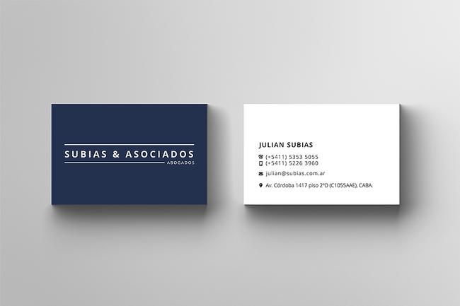Subias & Asociados . Tarjetas Personales
