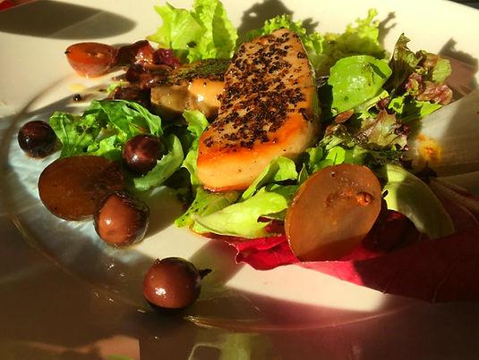 Foie Gras spadellato con insalata all'uva