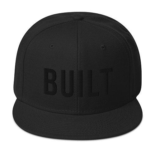 'The OG' Snapback Hat - Built Black