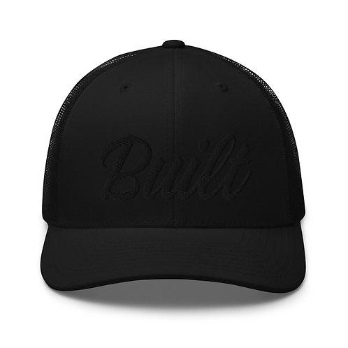 Built 'I' Trucker Cap - Black/Black