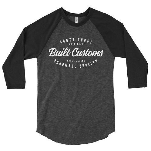 Built Customs 3/4 sleeve raglan shirt - Black/Grey
