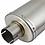 Thumbnail: RP1L Matt S/Steel Oval Exhaust Silencer (Left Hand) 51mm
