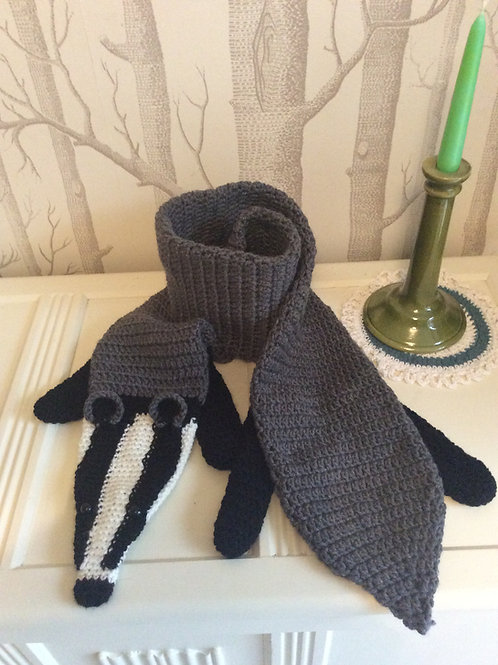Beautiful Badger Scarf or Stole