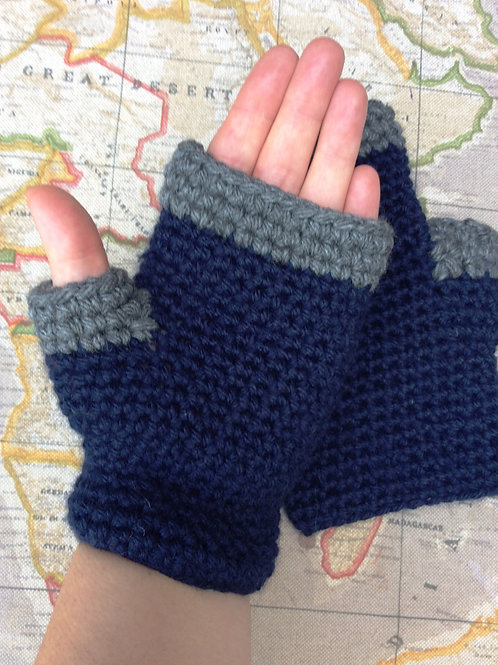 Easy Fingerless Mittens /Texting Mittens