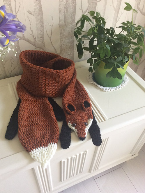 Fantastic Fox Scarf or Stole