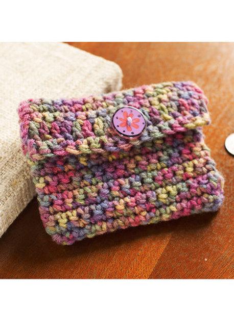 Easy Coin Purse Pattern in Double Crochet