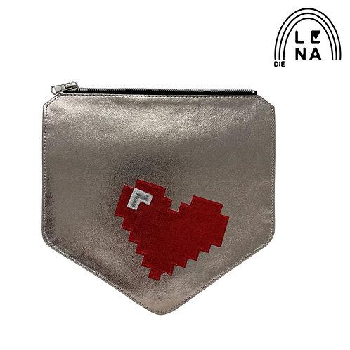 Wechselklappe- Pixel Heart