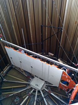 Phased array prototype thermal-vacuum test