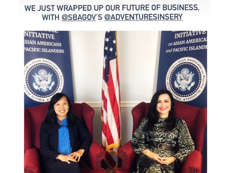 "Sery speaks at The White House AAPI ""The Future of Business"" + Women Entrepreneurs"