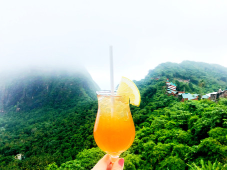 Cheers from impeccable Ladera Resort - Saint Lucia!