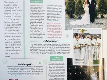 Newest Magazine article:  D Weddings
