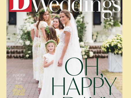 Be sure to pick up D Weddings for an article from me
