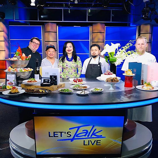 ‪Our table is set _LetsTalkLiveDC !  Be