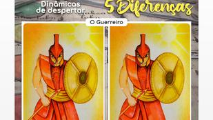 ENCONTRE AS 5 DIFERENÇAS - A CARTA DO GUERREIRO - MAHALILAH