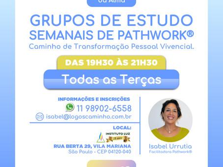 GRUPOS DE ESTUDO SEMANAIS DE PATHWORK® - Todas as Terças!