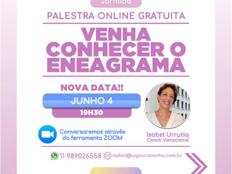 ZOOM LIVE -VENHA CONHECER O ENEAGRAMA - JUNHO 4