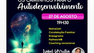 FACEBOOK LIVE - OS CAMINHOS PARA O AUTODESENVOLVIMENTO  27/8 -19H30