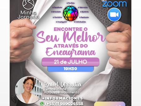 ENCONTRE O SEU MELHOR ATRAVÉS DO ENEAGRAMA - VIA ZOOM - 21/07 -19H30