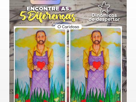 ENCONTRE ÁS 5 DIFERENÇAS - CARTA DO CARIDOSO