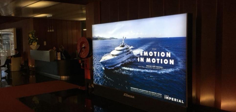 Publicité de yacht pour les yachts impériaux