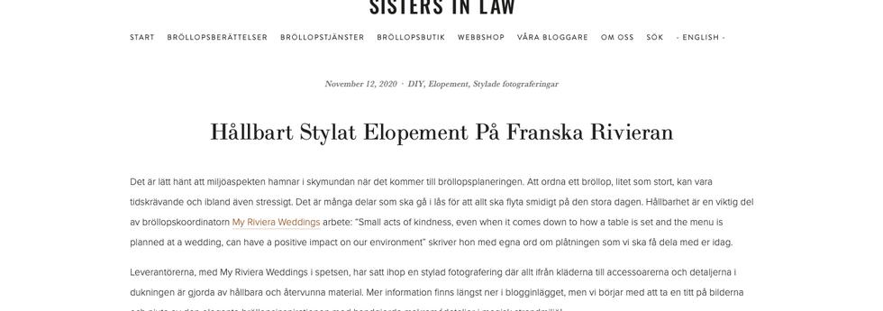 SISTERS IN LAW BLOG