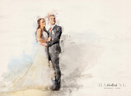 Digital Water Art - Original Wedding Keepsake