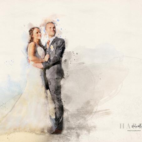 Digital Water Art - Original Wedding Keepsake