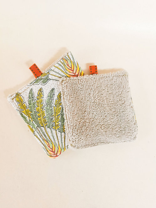 REUSABLE BAMBOO COTTON MAKE UP WIPES